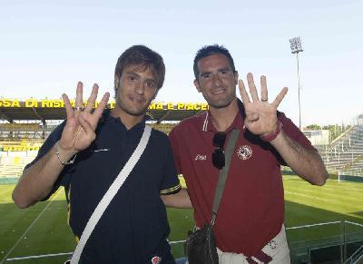 Gilardino e Lucarelli, 4 gol a testa in Parma - Livorno