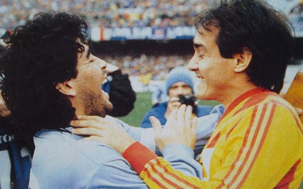 Pasculli e Maradona Lecce - Napoli