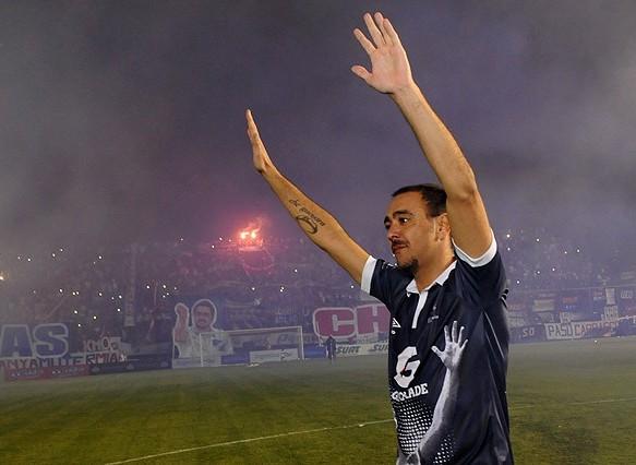Alvaro Recoba addio al calcio a Montevideo