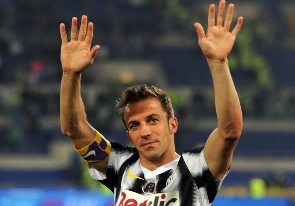 Del Piero ultima gara Juventus - Napoli