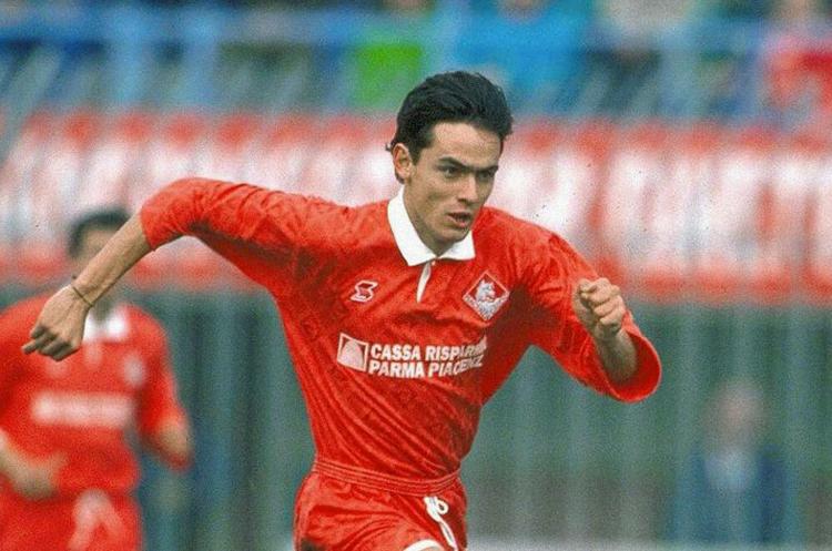 Un giovanissimo Filippo Inzaghi con la maglia del Piacenza